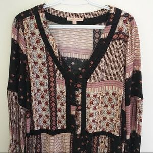 Gibson Latimer | Patchwork Tunic Blouse